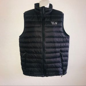 Mountain Hardwear Vest Gray Down Full Zip B57